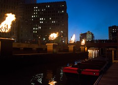 Wall Braziers and Guest Dock