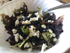 Feta and blueberry salad #naturallyglutenfree #gf #glutenfree
