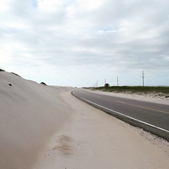 The Road Ahead. Day 38. Rt 12 on Pea Island, NC. It's long lonely strip of land. #TheWorldWalk #nc #obx #travel #beach