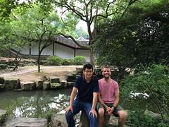 With my friend Zou Lei at Yuelu Academy, Changsha