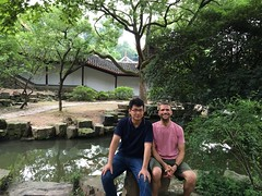 With my friend Zou Lei at Yuelu Academy, Changsha