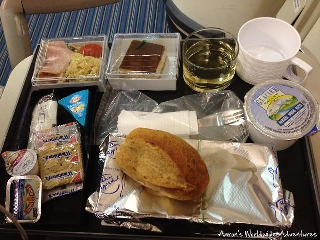 Singapore Airlines Economy Dinner