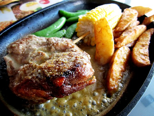 Sizzling pork chop with creamy sauce 2