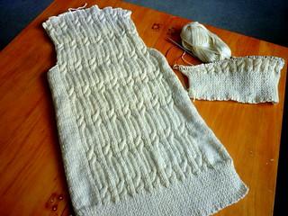 Cricket vest in progress