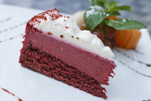 Red Velvet Cake with Raspberry Mousse