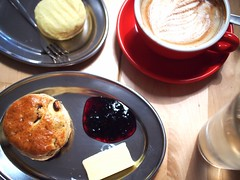 Melting Moment, Raisin Scone, Flat White, The Plain cafe, 50 Craig Road, Tanjong Pagar