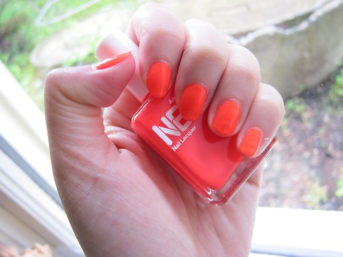 American Apparel Neon Red Nails