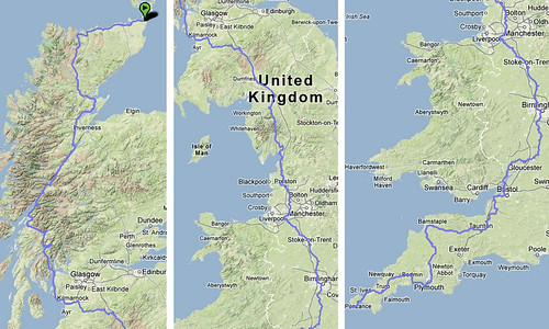 John O'Groats to Land's End (traffic free)