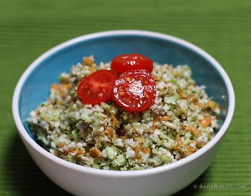 Broccoli, Cauliflower, Carrot Raw Vegetable Detox Salad Recipe