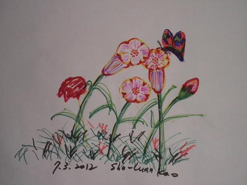 鉛字筆_不知名花