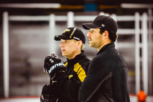 Mike Valley (left) and Brian Elliott