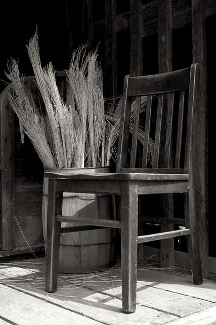 Chair and Broom Corn