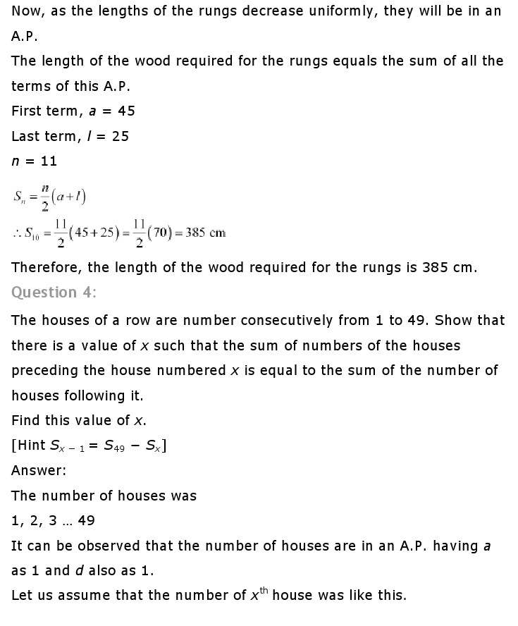 NCERT Solutions For Class 10th Maths Chapter 5 Arithmetic Progressions AP PDF Download 2018-19 freehomedelivery.net