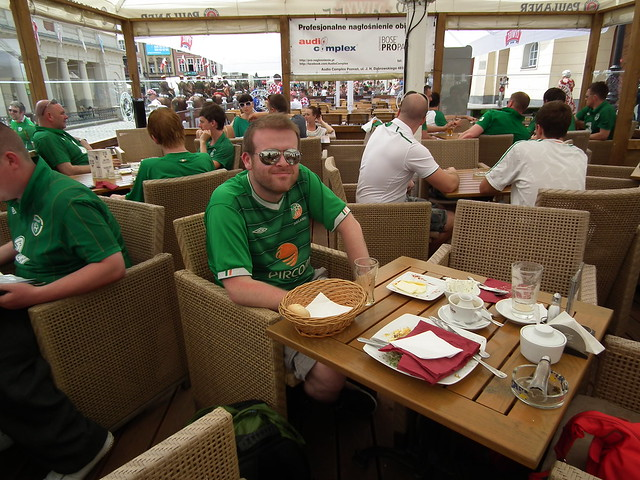 Breakfast in the Old Town Square - Poznan, Poland