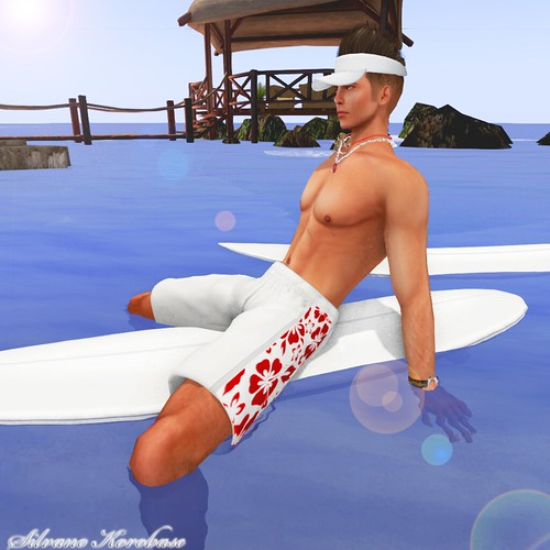 SF Design mesh swimshorts red and white by SilvanoKorobase