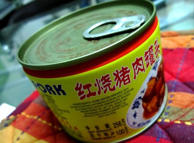 Canned stewed pork