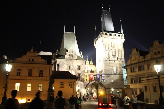 Malostranská mostecká věž by night
