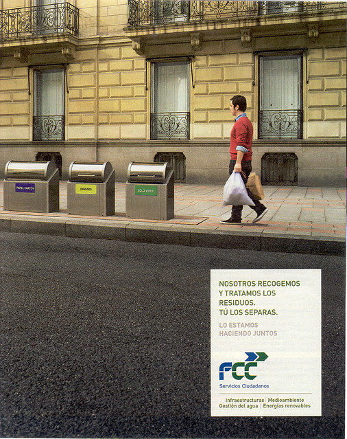 Las grandes empresas de la construcción se dedican a las basuras. Publicidad junio 2012