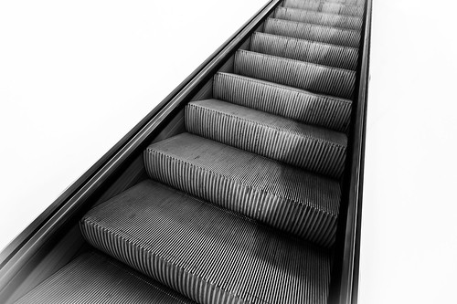 escalator in the nothingness