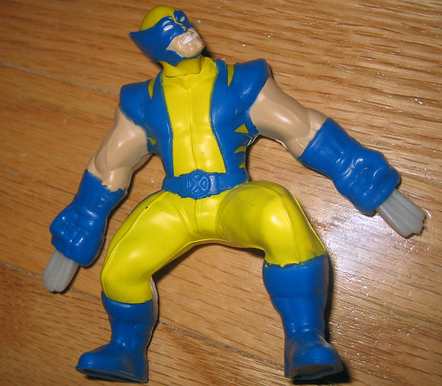 20120519 - yardsale booty - toy - action figure - worst Wolverine action figure ever - IMG_4206