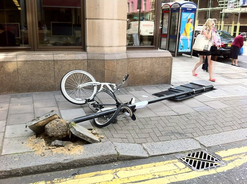 Imagine coming back to your bike to find this... by DBP Harrison