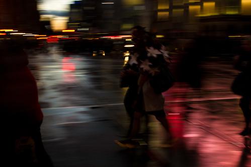 dusk on the street