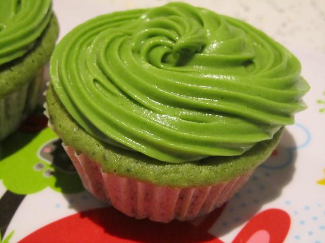 Double Matcha Cupcakes