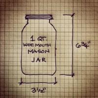Mason jar dimensions