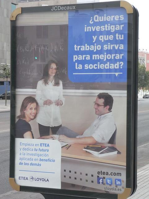 Campaña publicitaria captación de alumnos universidad Loyola ETEA