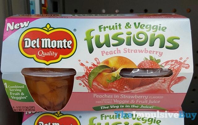 Del Monte Fruit & Veggie Fusions Peach Strawberry
