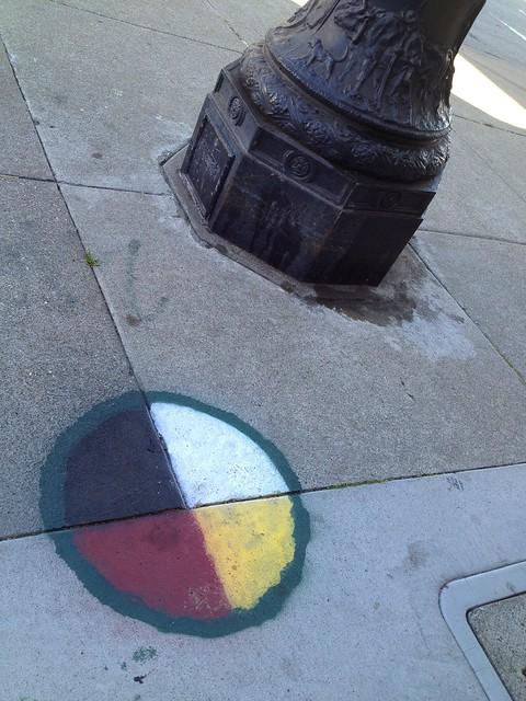 Sidewalk graffiti, Market Street