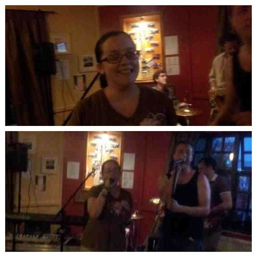 Before and During. Singing #SirDuke and #iwish by #steviewonder at #openmic #PicFrame