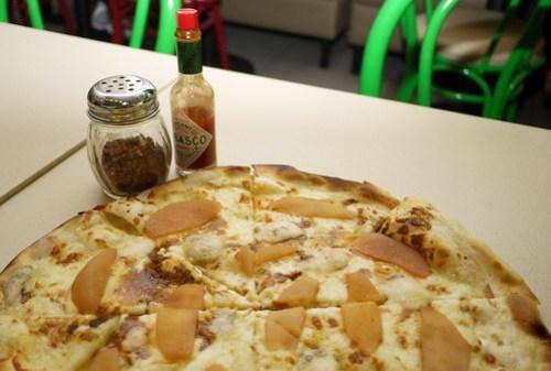Sweet Pear and Gorgonzola Pizza at Tuscano Italian Wood Oven Pizza & Restaurant
