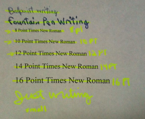 M205 writing sample