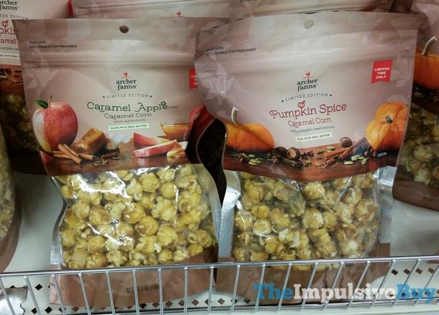 Archer Farms Limited Edition Caramel Apple and Pumpkin Spice Caramel Corn