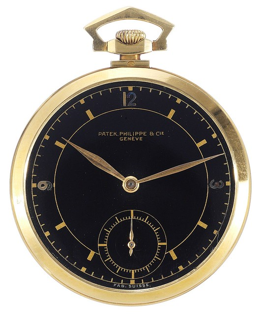 Patek Philippe Yellow Gold Dress Watch. Movement: 1927. Case: 1936