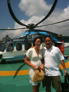 Chopper to Macau for our 10th Wedding Anniversary.