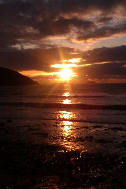 Sand Bay at Sunset