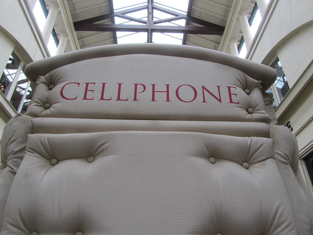 "25 - ""Cellphone"" by Bert Gilbert in collaboration with Mark Crick (Covent Garden)"