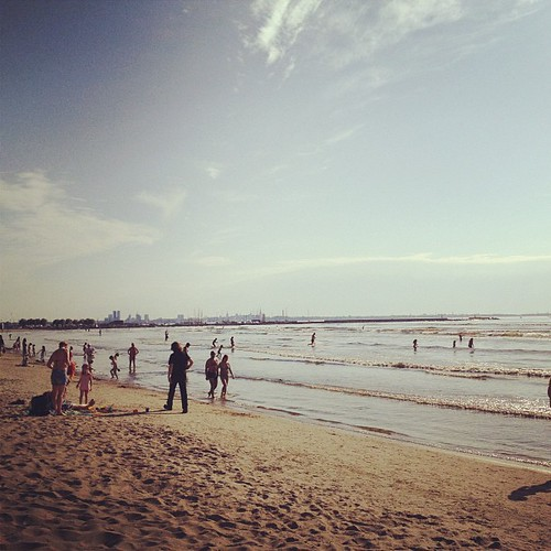 This is my first time in beach on 1st of July 2013