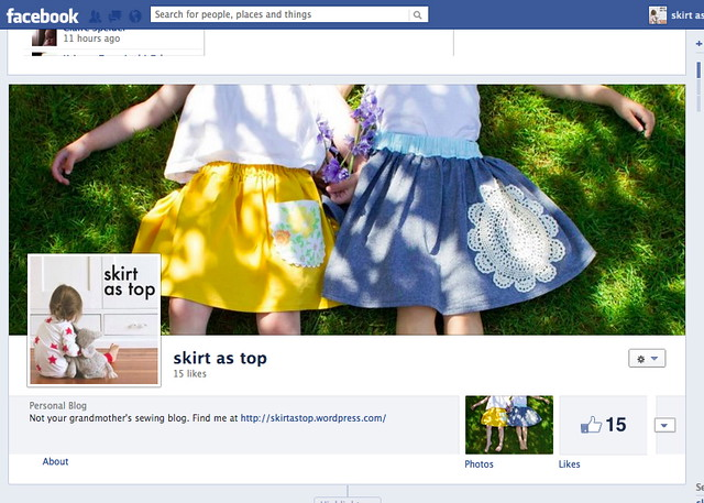 skirt as top facebook page