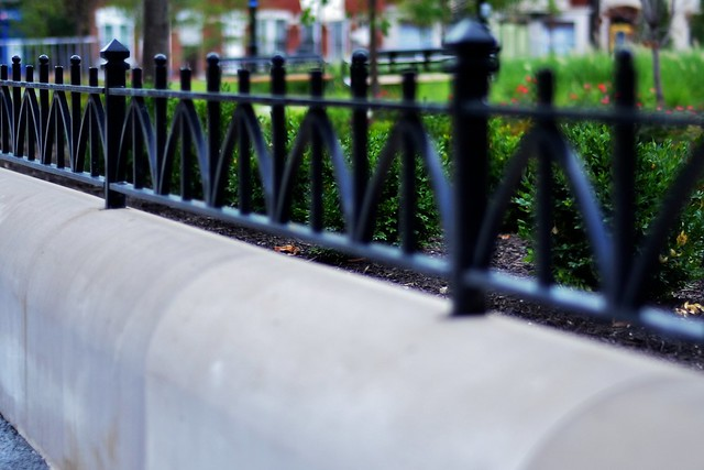 Receding Fence Rail