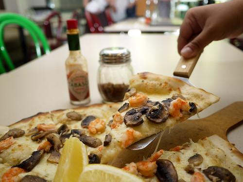 Gamberetto Pizza at Tuscano Italian Wood Oven Pizza & Restaurant