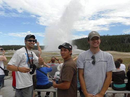 The boys at Old Faithful