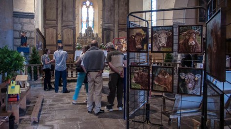 Exhibition in French church
