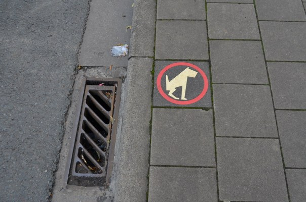 Please urinate here if you are a dog