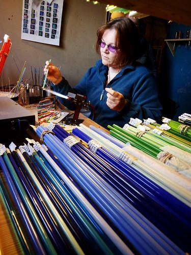 Anne working
