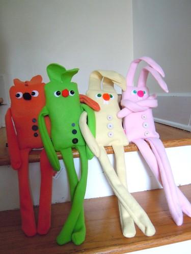 Fleece guys and bunnies