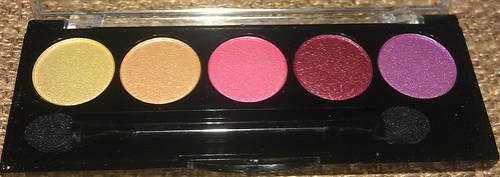 L.A. Colors 5 Metallic Eyeshadow Palette Wildflowers