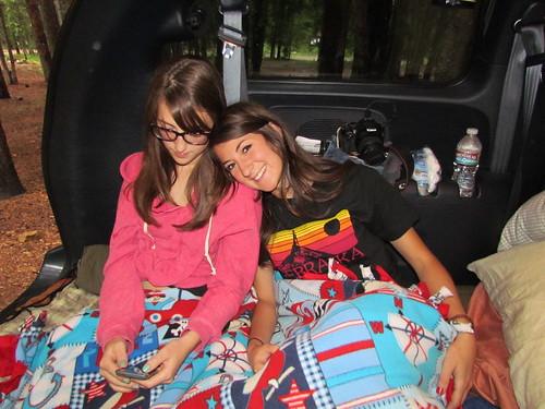 Z Crew sleeping in van